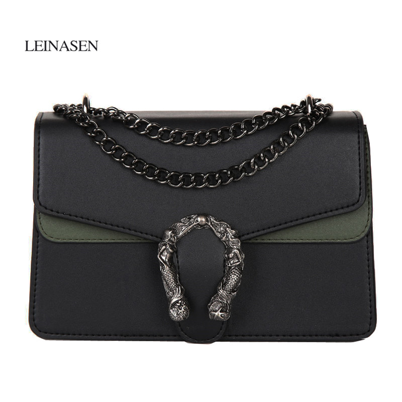 цена на Luxury Brand Fashion Rivet Chain Women Casual Shoulder Bag Retro Female Big Bag\Handbag Ladies Flap Motorcycle Bag louis gg bag