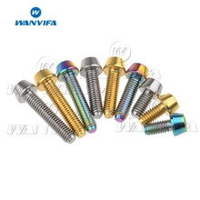 Wanyifa Titanium Bolt Screw M4x8 15 20mm Allen Hexagon Taper Head for Bicycle Brake