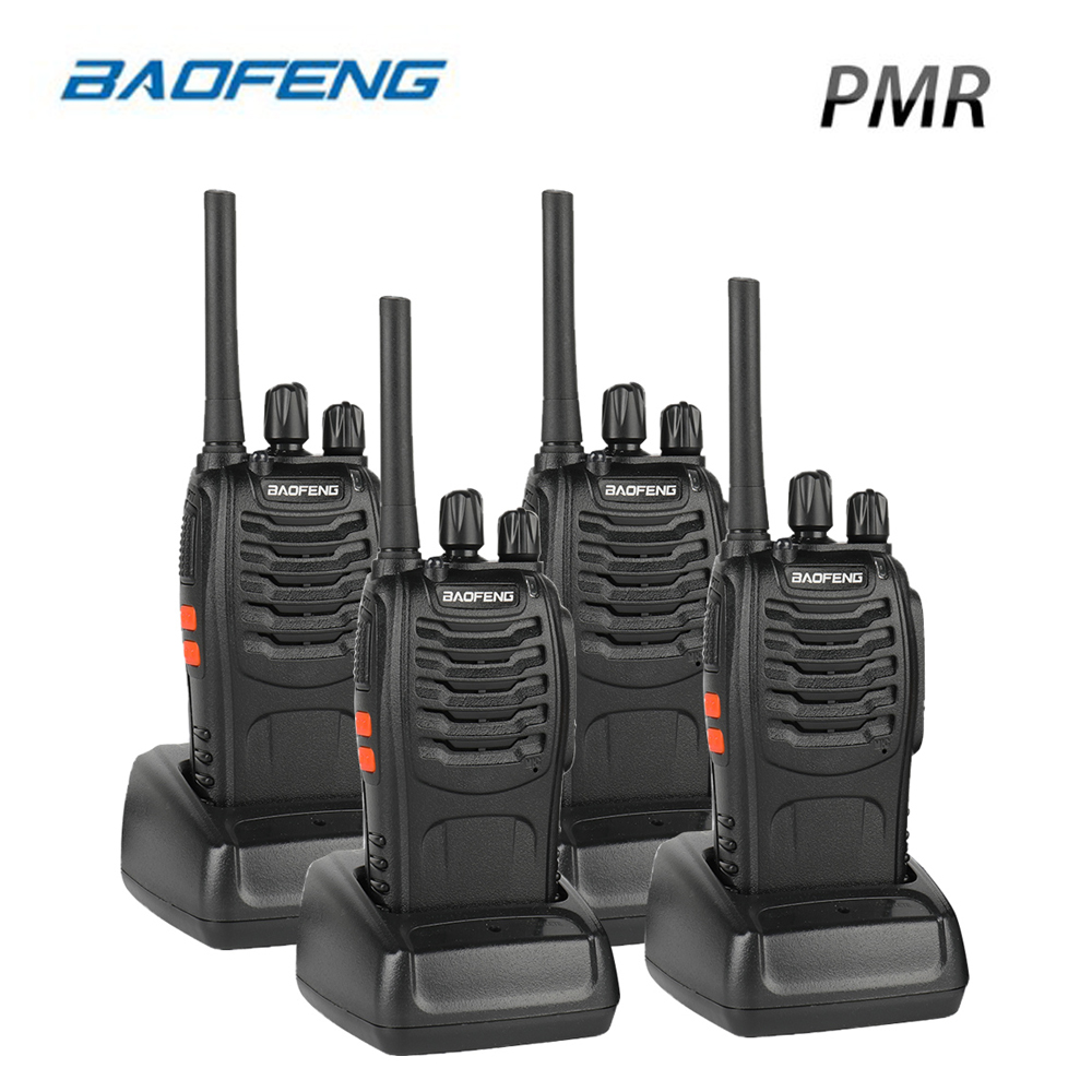 4PCS Baofeng BF-88E PMR Walkie Talkie  0.5 W UHF 446 MHz 16 CH Handheld Ham Two-way Radio With USB Charger For EU User