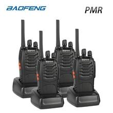 4PCS Baofeng BF-88E PMR Walkie Talkie 0,5 W UHF 446 MHz 16 CH Handhållen skinka Tvåvägsradio med USB-laddare för EU-användare