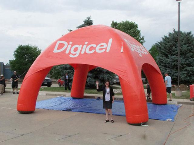 Vermelho inflável cúpula tenda aranha inflável publicidade para a venda com próprio logotipo