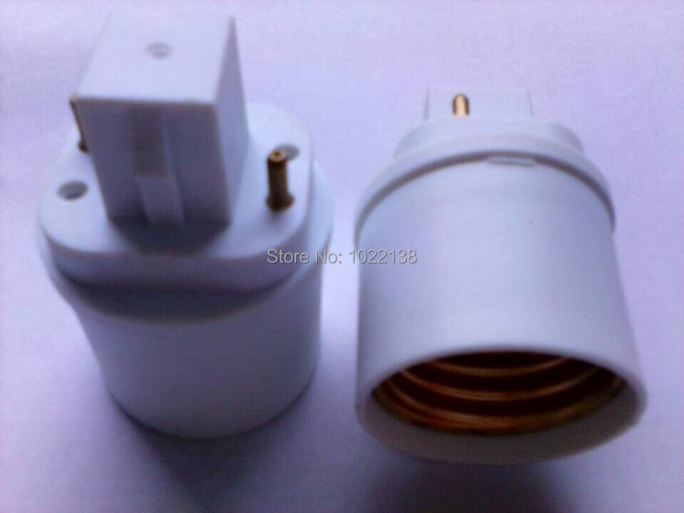 6pcs <font><b>G24</b></font> to E27 LED <font><b>Socket</b></font> adapter lamp base <font><b>G24</b></font>-E27 Converter Extender bulb base lamp holder Free Shipping With Tracking No. image