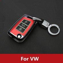 Plastic Luminous Car Key Case Bag Cover For VW Golf 7 mk7 Skoda Octavia A7 New Polo Portective