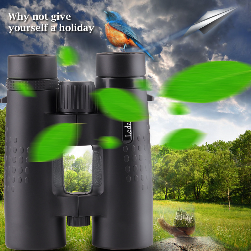 Ledarnell 10X42 Binoculars Hunting Zoom Telescope High-powered HD Waterproof Shockproof Optical Night Vision Long Range bresee high powered telescope hd 7x50 binoculars for hunting and outdoor adventure