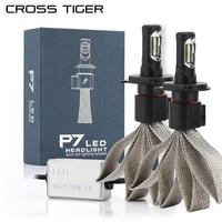 CROSS TIGER P7 Car LED Headlight Braid Radiating 9600LM 6000K Lamp Auto Bulb Light H1 H3