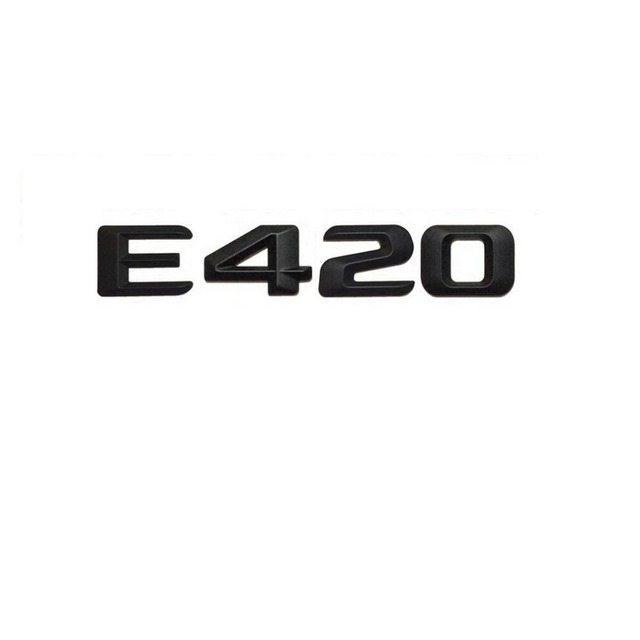 Matt black e 420 car trunk rear letters words number badge emblem decal sticker