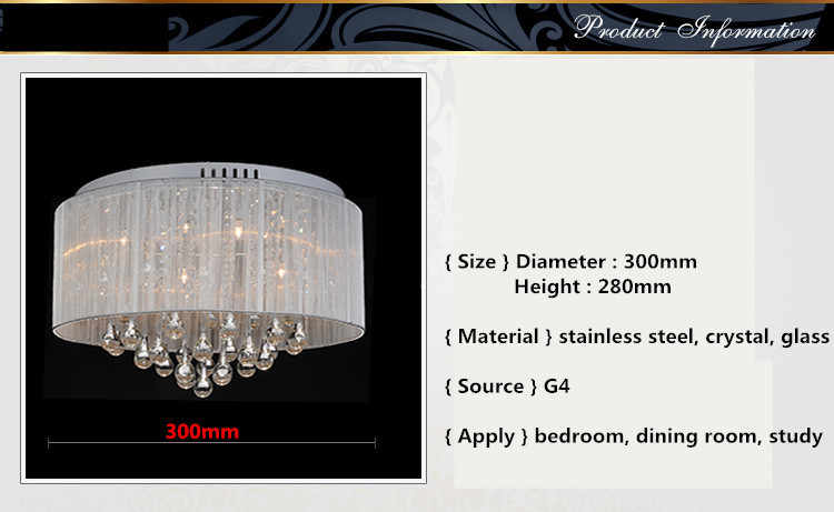 Новая лучшая продажа современная простая ткань Хрустальная люстра с именем бренда 0106