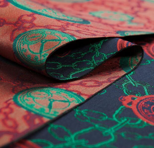 Temps arbre rotatif chaîne japonaise mauvaise marque Jacquard fil teint vêtements profil coton tissu - 3
