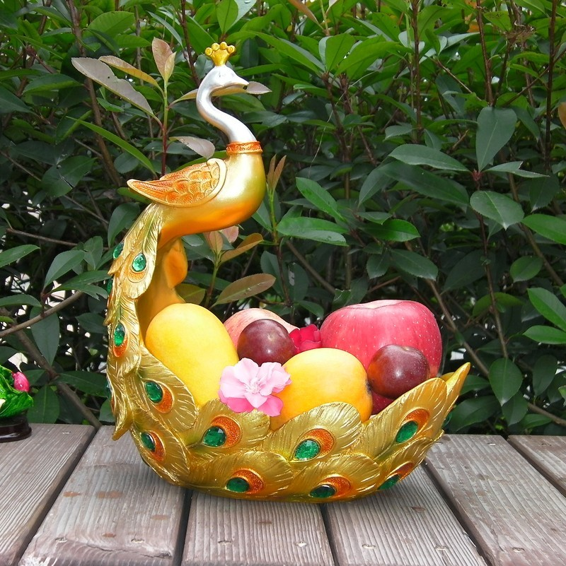 Peacock Southeast Asian Fruit Plate European Fashion Jewelry Table  Decoration Room Home Furnishing Fruit Bowl