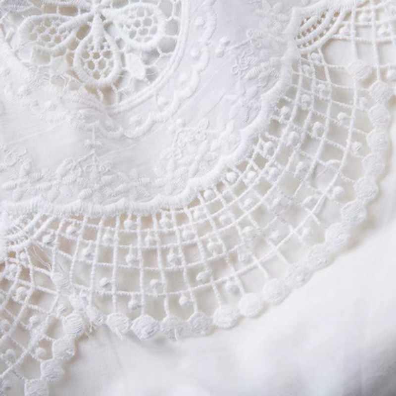 Лето платье для женщин лоскутное выдалбливают Кружева Slash шеи бандаж с высокой талией лук Свободные мини платья женские 2019 Tide