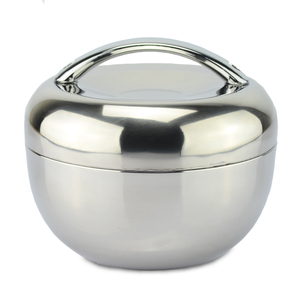 Bento food container food storage tiffin box dinnerware set 0.8l apple shape thermal insulation stainless steel lunch box
