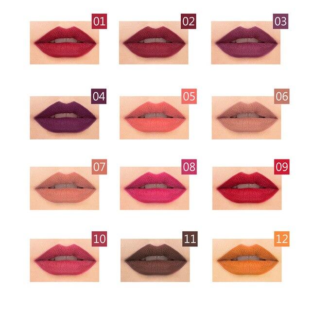 1 Colors/Set Sexy Matte Lip Stick Lipliner Lip Liner Pencil Matt Nude Lipsliner Pen Set Beauty Makeup Tool Cosmetic For Lips 4