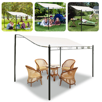 3*3/2.6m Canvas Waterproof Tent Canopy Top Outdoor Roof Cover Patio Awning Sun Shade Sails Net Replacement Garden Supplies Tool