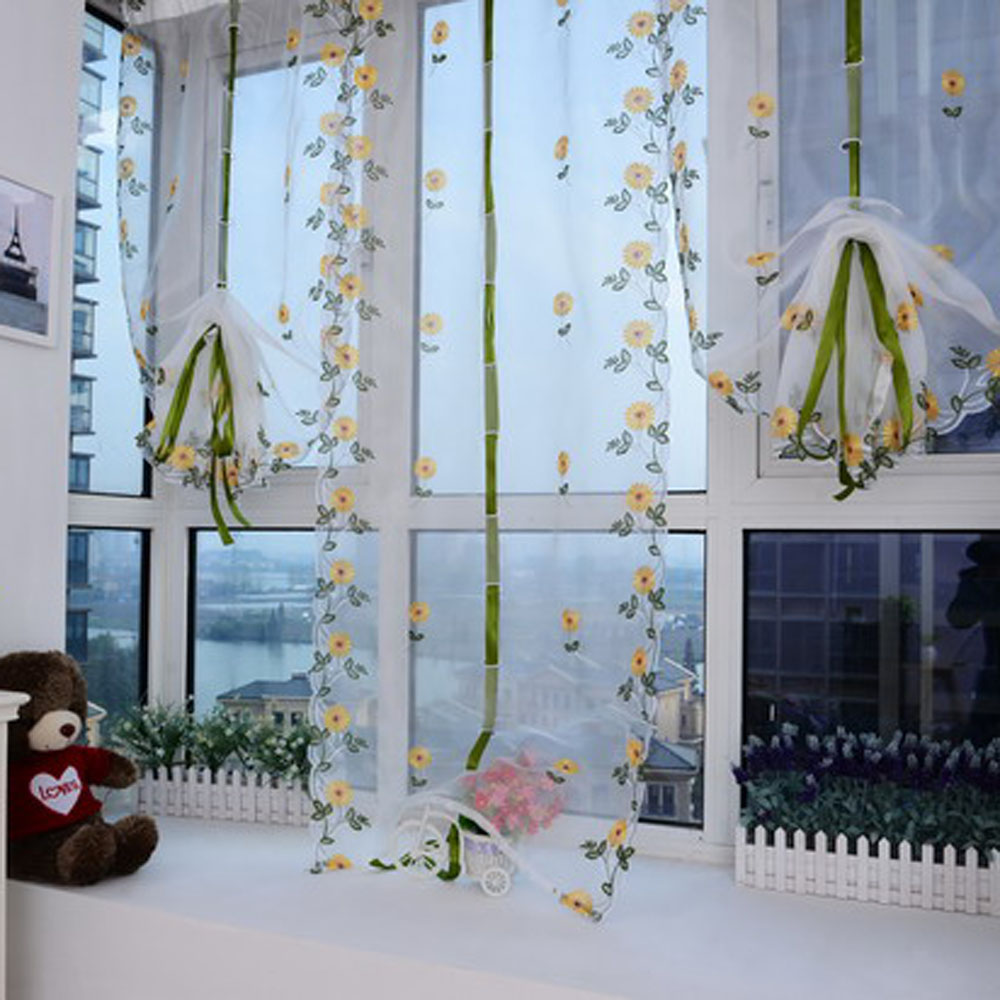 unids m m flor del bordado escarpada ventana cenefa ventana del balcn
