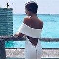 Envío libre missord 2017 dividido sexy cuello halter dress ft4316