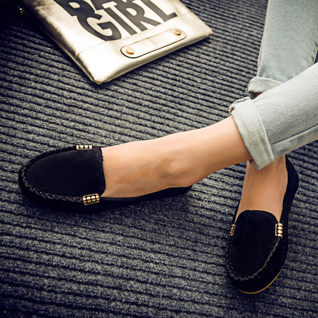 Plus Size 35-43 Women Flats shoes 2019 Loafers Candy Color Slip on Flat Shoes Ballet Flats Comfortable Ladies shoe zapatos mujer 2