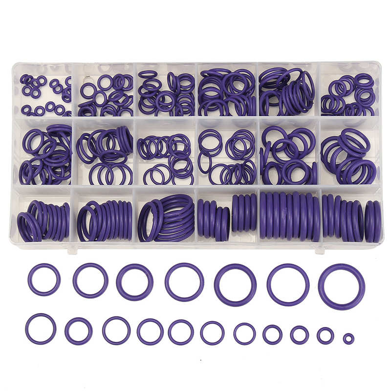 MTGATHER 5Pcs O Ring Gaskets Car A/C System Air Conditioning O Ring Seals Washer Kit Tool HNBR Rubber Purple Standard Parts
