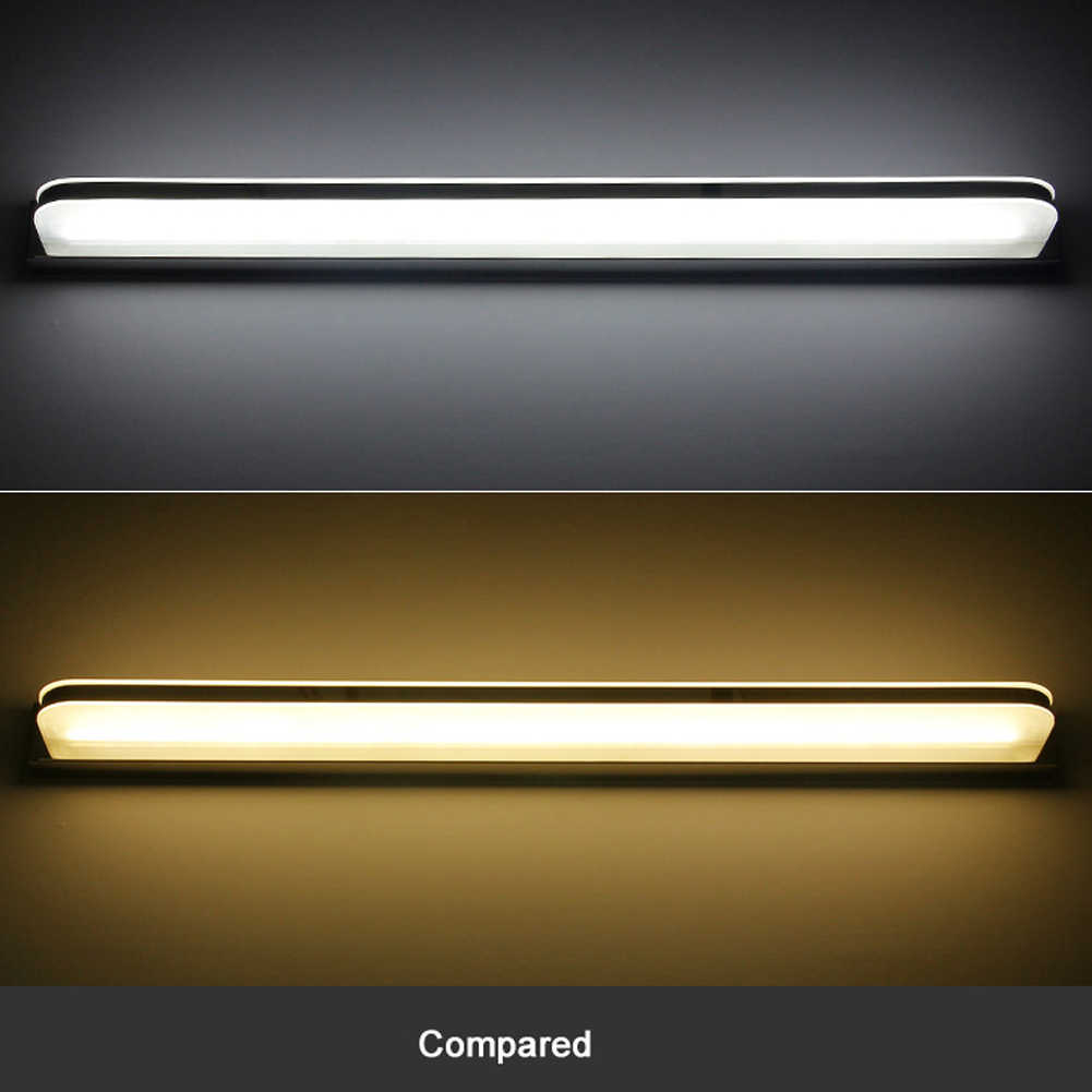 9 Вт/12 Вт современный светильник для ванной комнаты из нержавеющей стали светодиодный светильник с передним зеркалом для макияжа, настенный светильник, амбициозное освещение, светильники, зеркальные лампы