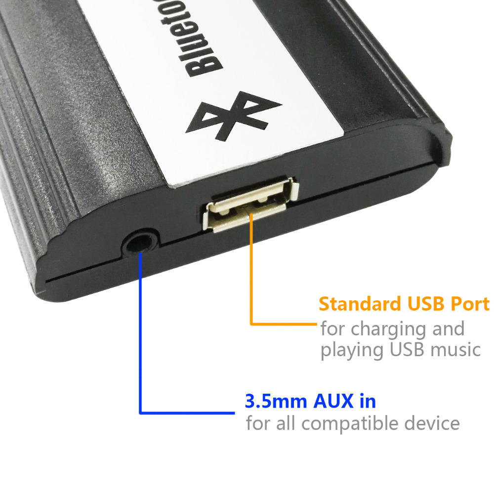 Bluetooth Receiver Car Kit Hands Free Phone Call Wireless Music - 2004 acura mdx bluetooth