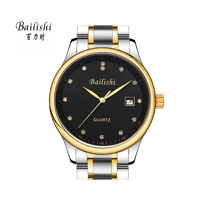 BAILISHI 2017 Luxury Brand Men Watches Date Analog Clock Male Silver Stainless Steel Casual Wrist Watch Mens Quartz Watch bailishi casual quartz watch diamonds hour stainless steel wrist watch male clock brand luxury men wristwatch 30m waterproof