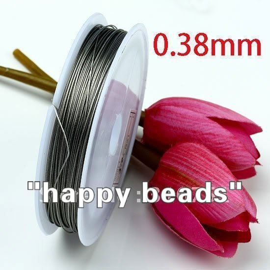 Free Shipping 1 Roll 100M Silver Tone Beading Wire 0.38mm Cord/String/Thread(w00437) ...