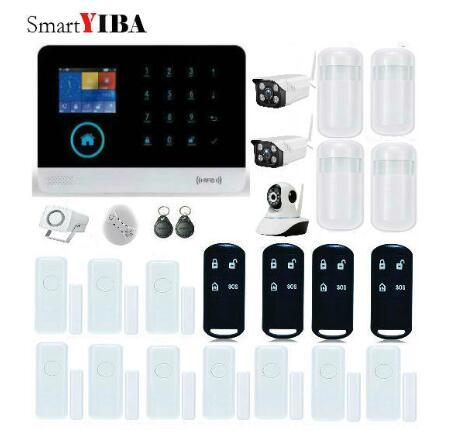 SmartYIBA WIFI APP RFID DIY Safety GSM Security Alarm System Wireless Remote Control Outdoor/Indoor HD IP Surveillance Camera недорого
