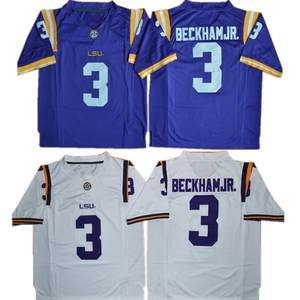 new Men s LSU Odell Beckham Jr. 3 College Football Jerseys Purple White  Yellow Stitched Size S-3XL free shipping 0f0cc8be2