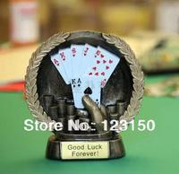TA 034 Poker Hand, Poker Trophy, Poker Souvenirs, Trophy Cup, Winner Souvenier