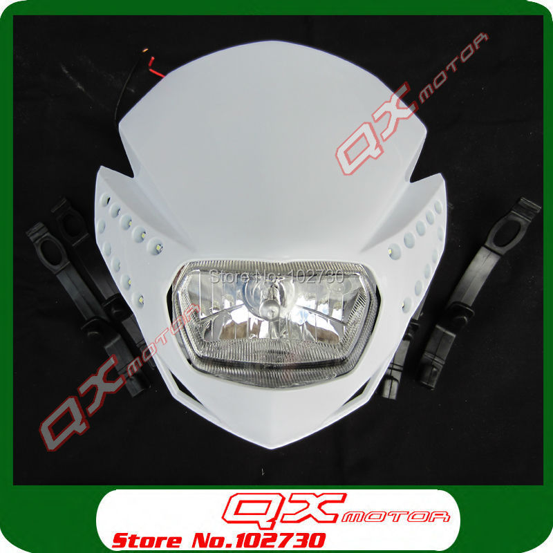 Free Shipping Motorcycle Streed bike Motorbike Universal LED Vision Headlight for klx yzf crf Dirt Bike Motocross Enduro motorcycle windscreen windshield for hyosung atk gt125 gt650r gt250r kasinski mirage 250r 650r motocross motorbike dirt bike
