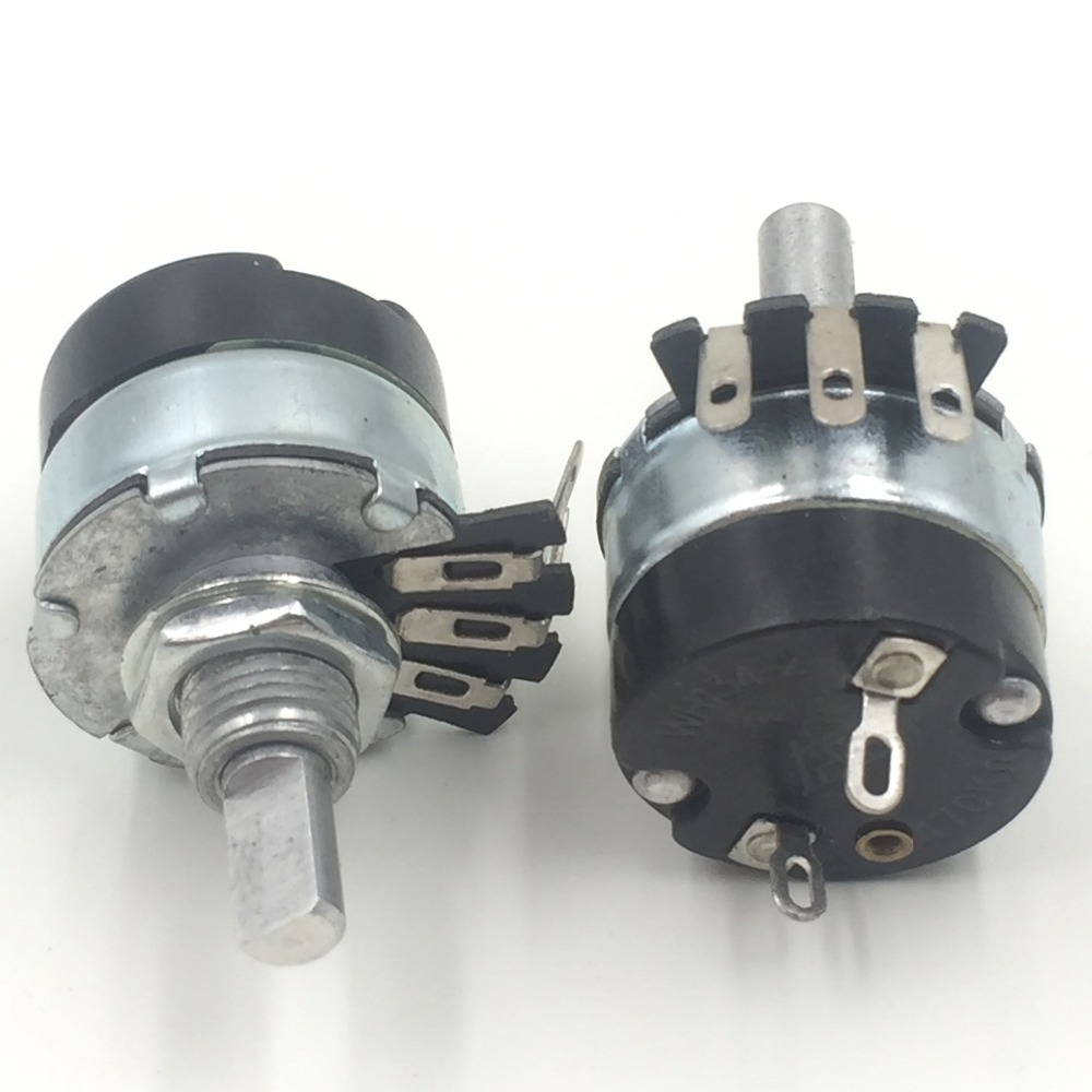 2pc A100K Ohm 100K Logarithmic Nolinear Potentiometer 2W ON/OFF Switch WH134-2 цены онлайн