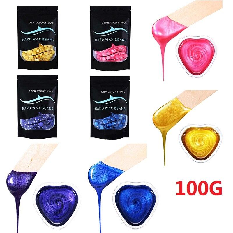 100g/bag Depilatory Wax Beans Hot Film Hard Waxing Pellet Waxing Beans Women Body Face Bikini Hair Removal Bean Tools