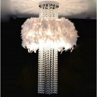 80 см современные женские туфли с отделкой белыми перьями, с украшением в виде кристаллов потолочный светильник ZL354