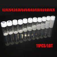 10 sztuk/partia ołowianych kulek lutowniczych do narzędzi bga 0.2/0.25/0.3/0.35/0.4/0.45/0.5/0.55/0.6/0.76/0, 65/mm