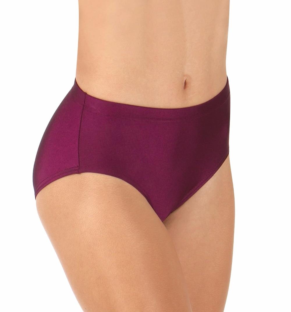 Womens Elastic Waistband Jazz Cut Briefs Adult Performance Dancer Bottoms Lycra Athletic Underpants Panty Spandex Underwear