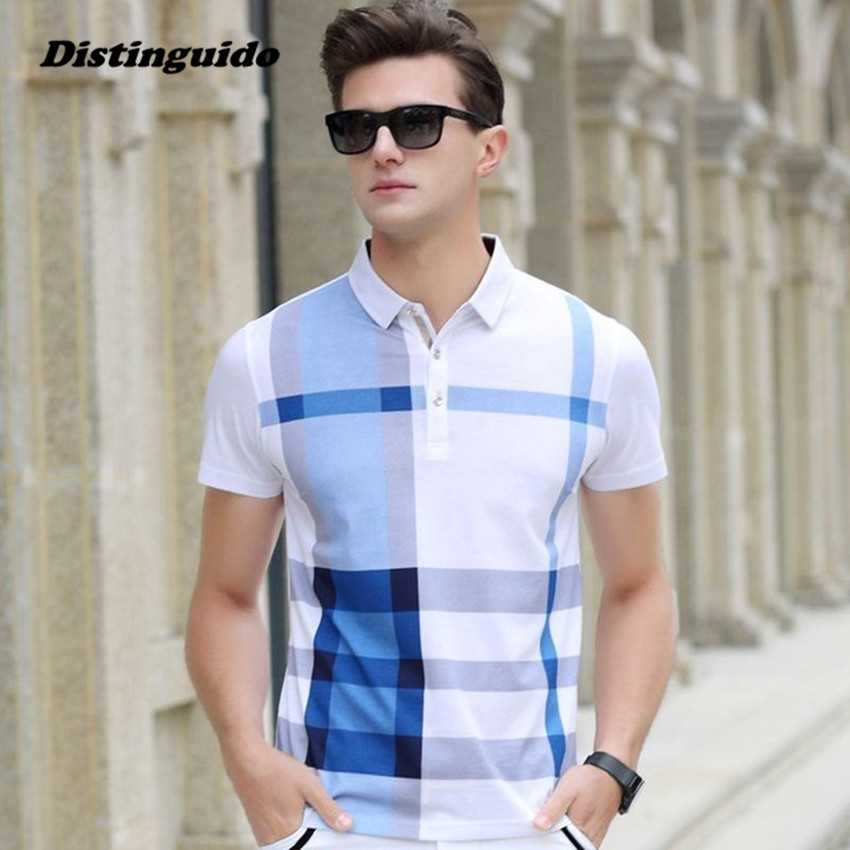 Men polo shirt slim fit short sleeve men clothing brand for Men s fashion short sleeve shirts