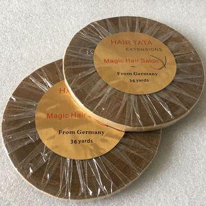 Image 4 - Двусторонняя клейкая лента для наращивания волос, 1 рулон, 36 ярдов, ширина 1 см