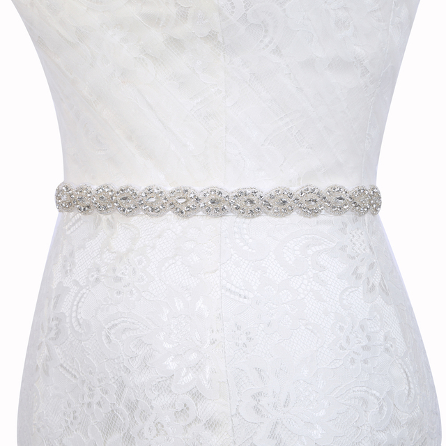 Wedding Dress Accessories.Us 4 74 5 Off Inofinn Z13 Crystal Wedding Belts Satin Rhinestone Wedding Dress Belt Wedding Accessories Bridal Ribbon Sash Belt In Bridal Blets From