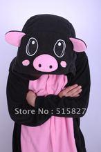 New Adult Animal Lovely Black Pig Pajamas Sleepsuit Onesie Sleepwear Unisex