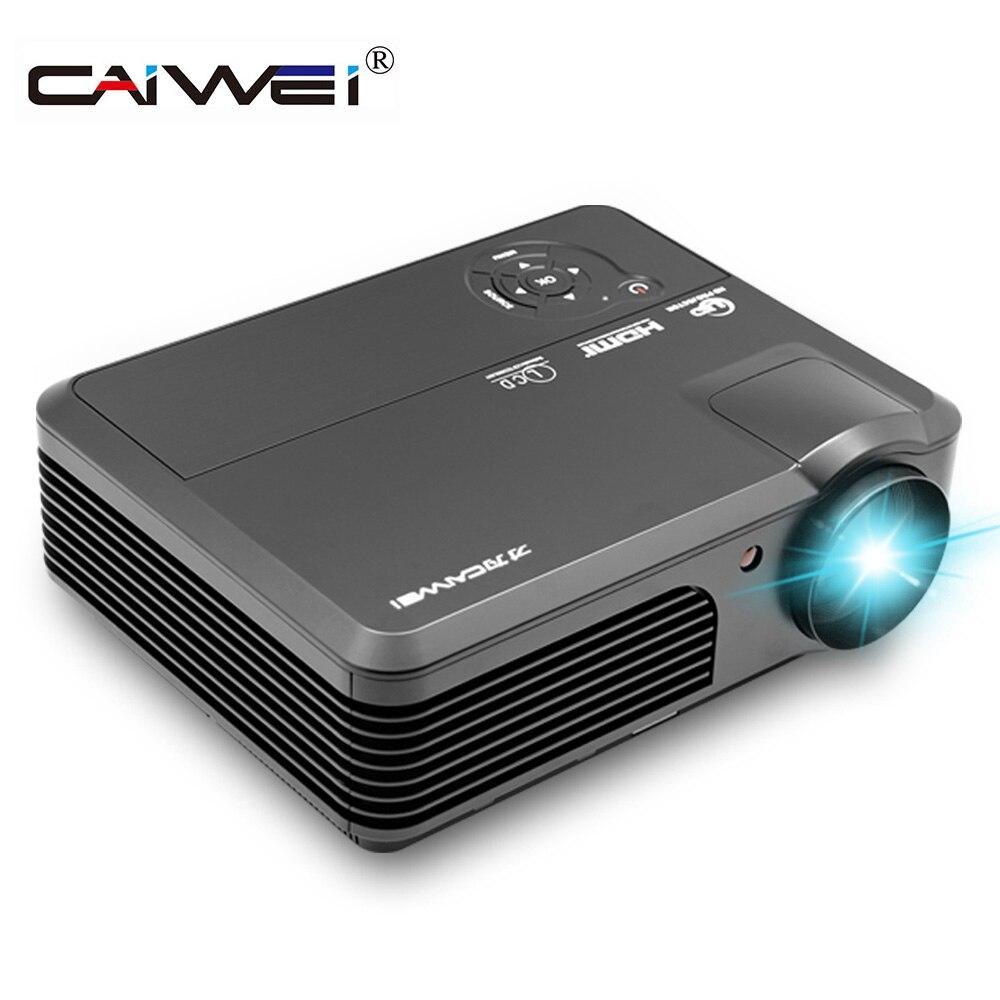 Projecteur de cinéma maison CAIWEI LCD 1080 p projecteur multimédia de jeu vidéo se connecter à votre smartphone tablette HDMI VGA