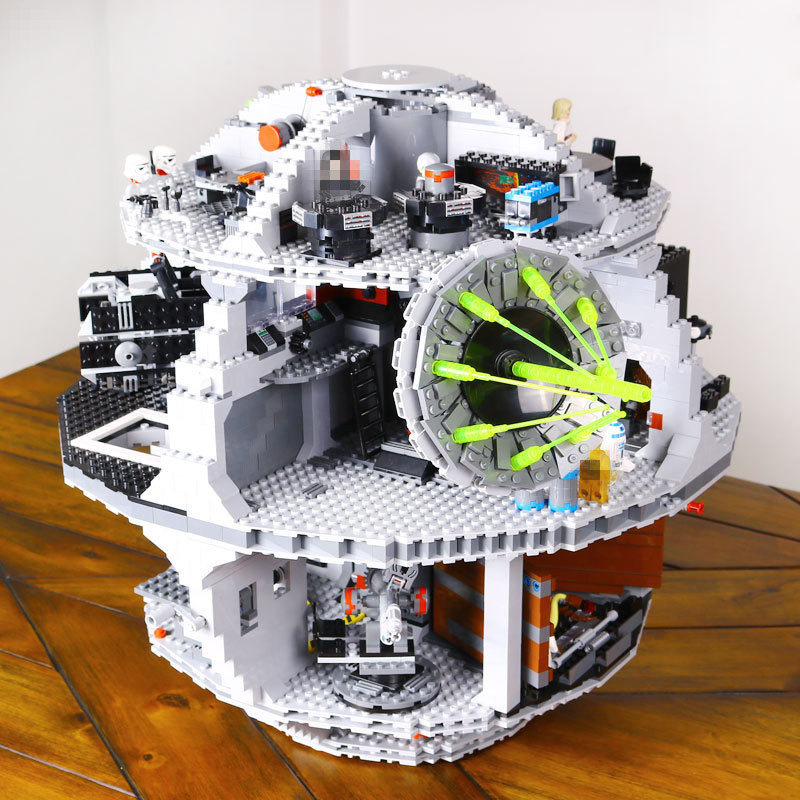 Lepin 05035 Star Serie War 3804pcs Education Blocks BricksThe Fighting Shuttle Model Building Kit kids Toy Gift With 10188 lepin 05035 star wars death star limited edition model building kit millenniums blocks puzzle compatible legoed 75159