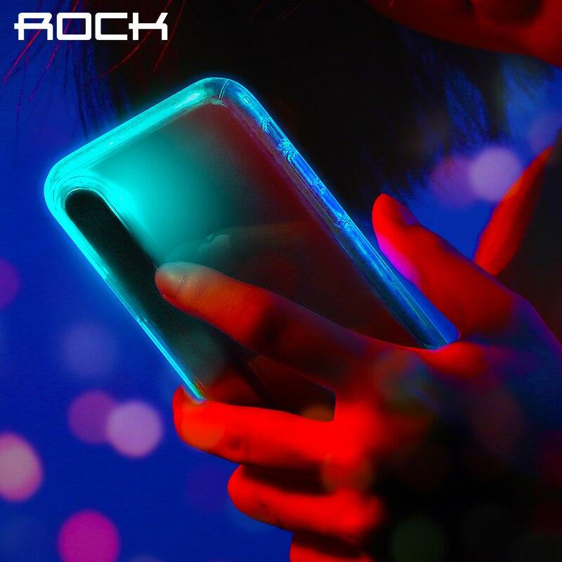 Pour iPhone X Cas, ROCK Marque D'origine LED Flash Lumière Appelant avis pour Alerte Téléphone Cas Crystal Clear Shell Couverture Pour iPhoneX
