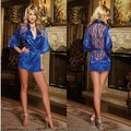 Free shipping 2015 explosion models Sexy woman Lace Perspective Stitching gown