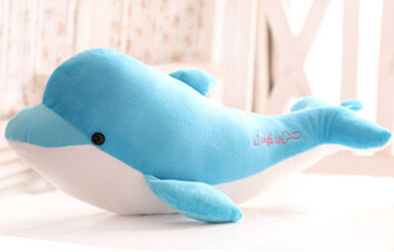 2015 New 28cm High-quality goods dolphins pillow doll plush toys dolphins doll present lovers toys for childrens Free shipping (1)