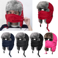 2017 Winter Men Women Winter Trapper Trooper Earflap Warm Russian Ski Hat With Cold Resistant Mask