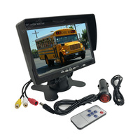 12V 24V 7 Inch TFT LCD HD Color Monitor 7 2ch video input Car Reverse Backup Rearview Screen