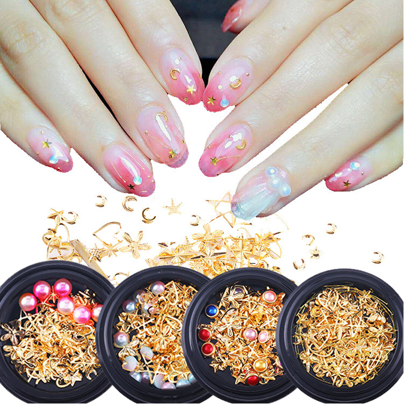 PinPai Mixed Style Metal Nail Art Decoration Pearl Rhinestones Nails Crystal Stones Sticker Manicure Accessories Tips Nail Tools