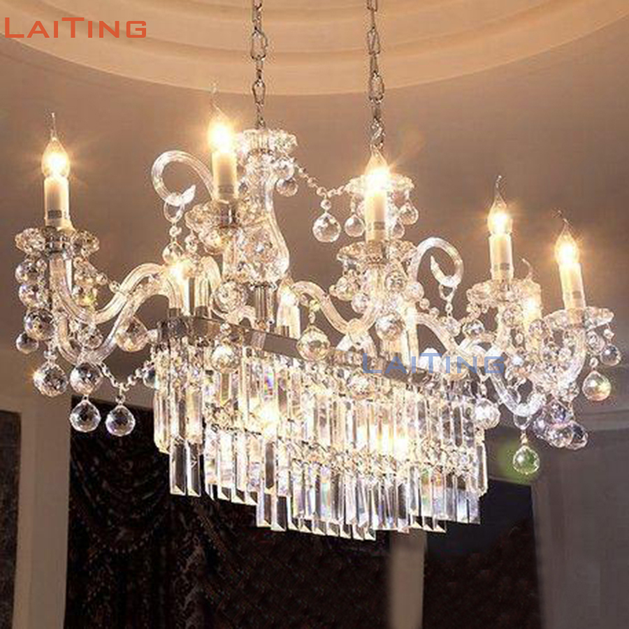 Maria Theresa Rectangle Crystal Chandelier Light Fixture