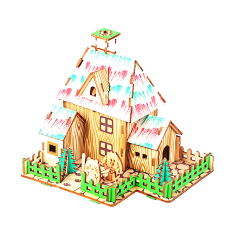 DIY Model toys 3D Wooden Puzzle The Wizard of Oz Wooden Kits Puzzle Game Assembling Toys Gift for Kids Adult P17 in Model Building Kits from Toys Hobbies