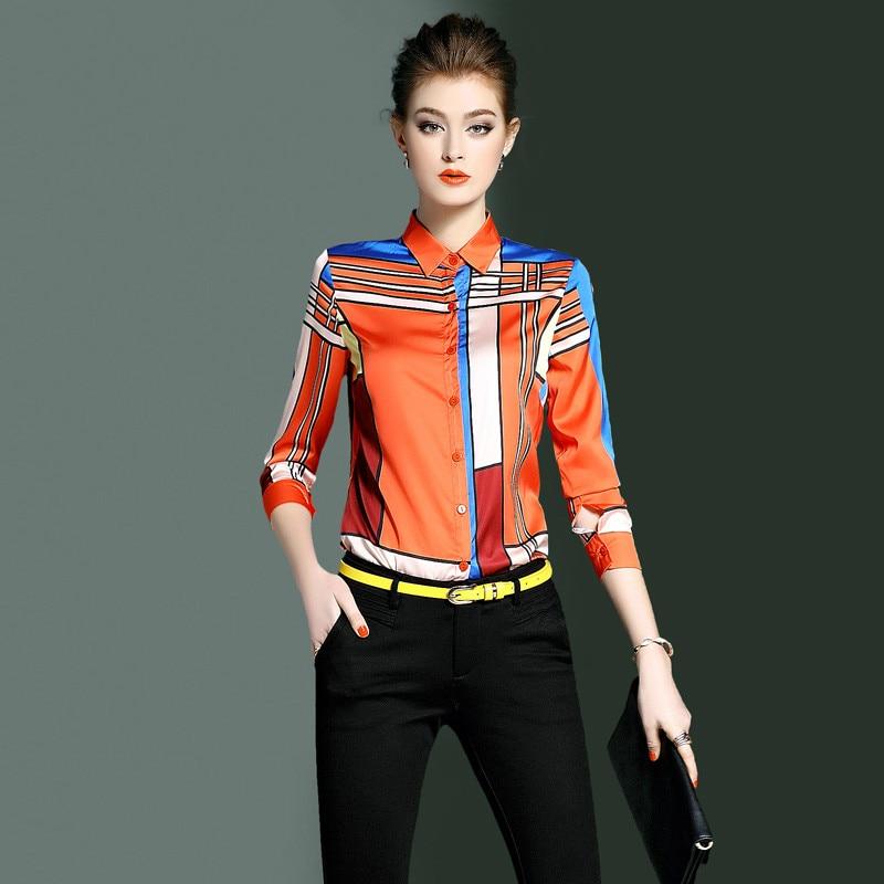 orange Damskie Camisas Blue De Tops Bluzki Kj1751 Cuadros 2019 Mujeres Las Europea Camisa A Y Moda Blusas Mujer Primavera pxgnUFw1qw
