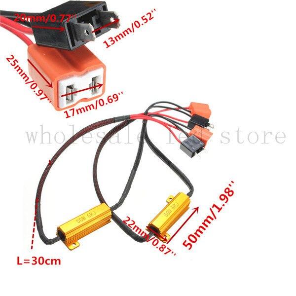 New Arrival 1X H7 50W 6Ohm Car LED DRL Fog Turn Singal Load Resistor Canbus Error Free Wiring Canceller Decoder